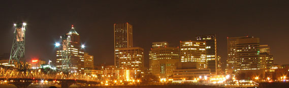 Portland Night Skyline