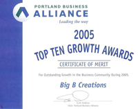 Portland Business Alliance top 10 Growth Award, 2005